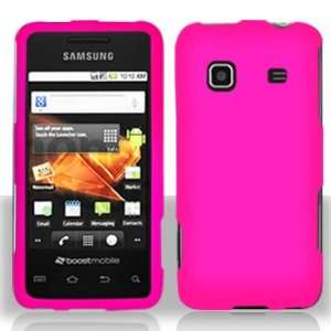 Samsung M820 Prevail Plastic Rubberized Hot Pink Case Cover Protector