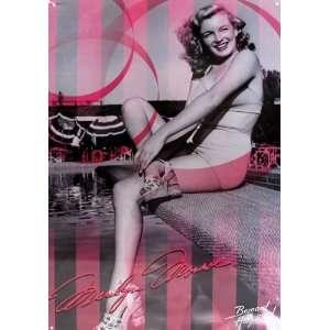 Tin Sign   Marilyn Monroe Pink