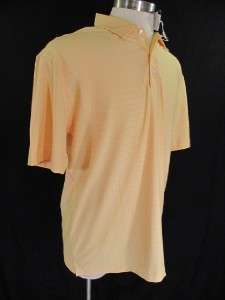 Nike Tiger Woods Golf Polo Drop Stripe 256449 Yellow L