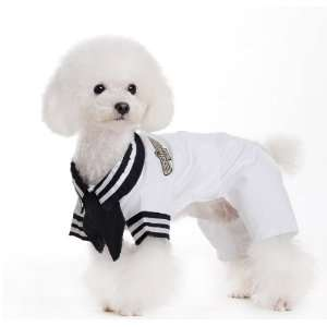 Spring Summer Pet Puppy Doggie Clothes Sailor Navy Suit