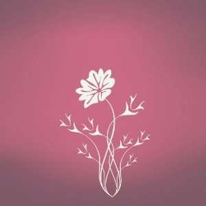 Vinyl Wall Art Decal Sticker Flower Thorns
