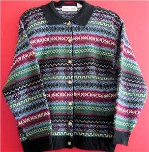 Baxter & Wells Black Wool Bl. Cardigan Sweater Womens M