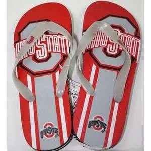 Ohio State Unisex Big Logo Flip Flops   Medium Sports