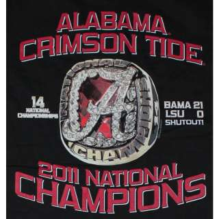 Alabama 2011 BCS National Champions T Shirts   UA National Champs Ring