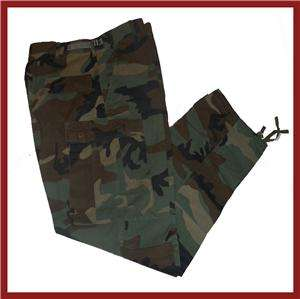 Military BDU Camo Cargo Combat Trousers Pants Mens Large Regular