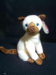 Ty Beanie Babies Siam Kitty Cat Stuffed Plush 2001 6