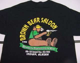 BROWN BEAR SALOON BAR BETWEEN THE MOUNTAIN & WATER INDIAN ALASKA T