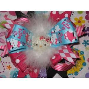 Pink and Pouf Hello Kitty Boutique Hair Bow Beauty