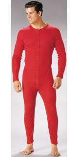 Army Style Red Union Suit Thermal Long John Underwear