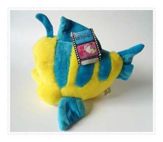 FLOUNDER The Little Mermaid PLUSH TOY Stuffed Animal   Fish Atlantic