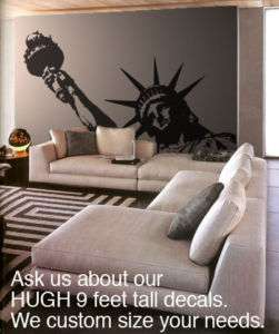 BIG Statue of Liberty Vinyl Wall Decal Sticker 138x84