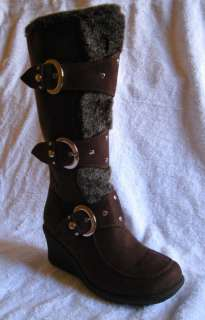 Women Brown Suede Boots Size 5.5 10