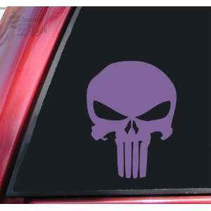 Punisher 2K Skull Vinyl Decal Sticker   Lavender