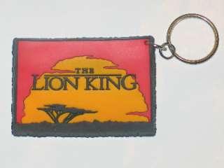 Walt Disneys The Lion King Name Logo Rubber Keychain