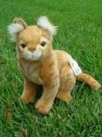 HANSA BOB CAT Stuffed Animal Plush Toy BOBCAT Animals