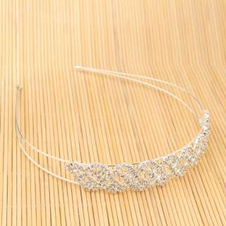 Elegant Bean Rhinestone Hair Band Headband Hoop