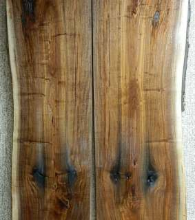 Long Thick Black Walnut Live Edge Bookmatch Table Top Lumber Set 812ab