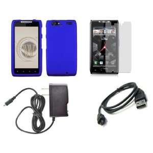 MAXX (Verizon) Premium Combo Pack   Blue Shield Hard Case Cover + ATOM