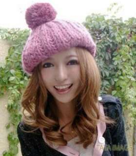 Beige NEW Winter Ladies Knit Beanies Hat Skull