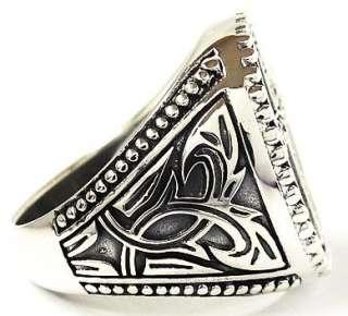 DIAMOND CROSS STERLING 925 SILVER RING 11   GOTHIC PUNK ROCK EMO NEW