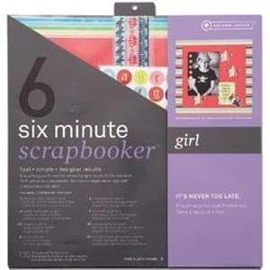 Scrapbooker 12 Inch x12 Inch Page Kit   Girl Arts, Crafts & Sewing