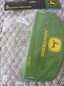 John Deere Birthday Party Hat Visor Tractor Farm Favor