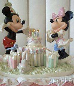 Lenox Disney Mickey Minnie Mouse Birthday Celebration