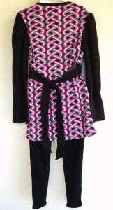 Girls Plus & Regular Sizes Empire Waist Top Shirt Fuchsia Black