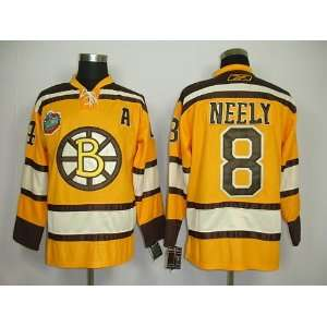Neely #8 NHL Boston Bruins Yellow Hockey Jersey Sz50