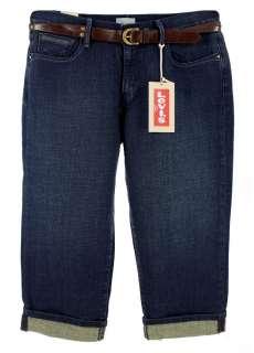 NWT New Levis 515 Womens Mid Rise Capri Denim Jeans Misses Sizes