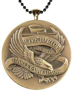 Harley Davidson Live To Ride, Ride To Live Pendant
