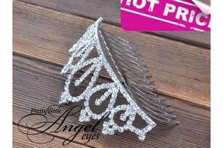 Shiny Bridal New Tiara Wedding Rhinestone Crown Comb Hair Clip Girl