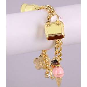Fashion Jewelry Charm Bracelet with Pattern Gold