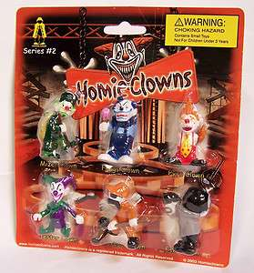 RARE Homies CLOWNS Series 2 Blister Package Card Figure Figurine 2