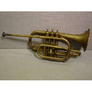 com Antique 1800s J.W. Pepper Engraved Brass Cornet Everything Else
