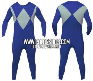 Mighty Morphin Power Rangers Blue Power Ranger Costume Suit v2 SHIPS