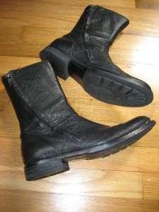 Mens Kenneth Cole Black Leather Mind Control Boots Sz. 8M Excellent