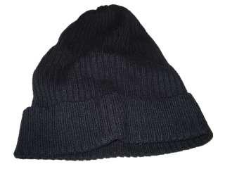 Ralph Lauren Navy Blue Beanie Skull Stocking Cap Wool Polo Hat