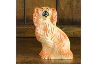 Staffordshire Pottery Antique Spaniel Wally Dog Figure