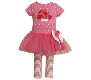 Bonnie Jean Baby Girls Spring Easter Pink Tutu Rose Dress & Leggings