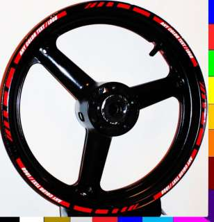 MOTORCYCLE CAR RIM STRIPE WHEEL DECAL TAPE STICKER TRIM