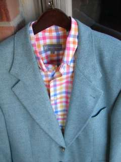 Hugo Boss Blue Cashmere Wool Mens Blazer Jacket Sport Suit Coat 42R 42