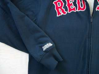 boston red sox full zip hooded jacket by stitches athletic gear size