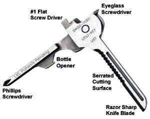 Swiss Tech UTILIKEY Utili Key Multi Tool Multitool Pocket Knife Key
