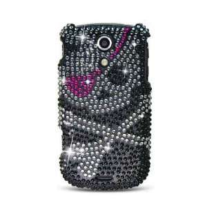 Sparkling Skull with Pink Eye Patch Design Full Diamond