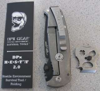 NEW DPx Gear HEST 2.0 Folding Knife Survival Tool RIGHT HAND HEST/F IN