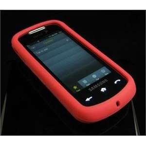 RED FULL VIEW Soft Rubber Silicone Skin Cover Case for