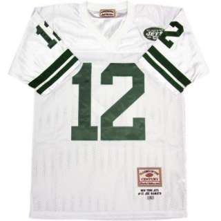 Joe Namath #12 New York Jets White Sewn Throwback Mens Size Jersey
