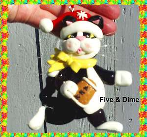 Super Cute Kitty Cat FOOTBALL Player Christmas Ornament