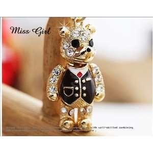 super cute crystal teddy bear bag charm